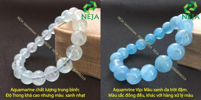 đánh giá chất lượng đá aquamarine