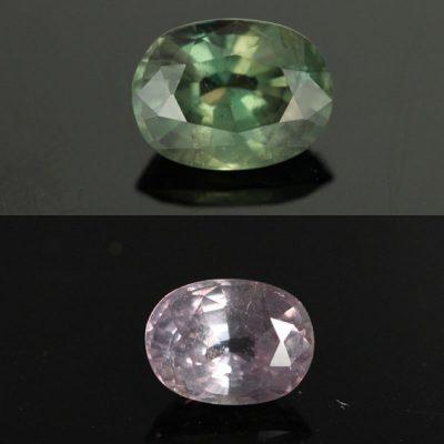 hiệu ứng thay thổi màu sắc của alexandrite