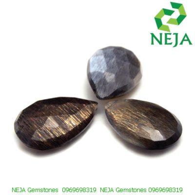 đá mặt trăng đen black moonstone