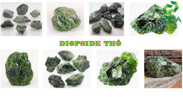 đá diopside thô