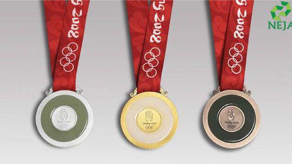 huy chương ngọc bích được sử dụng trong thế vận hội Olympic Bắc Kinh năm 2008