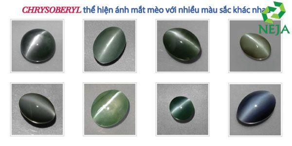 màu sắc của đá quý chrysoberyl