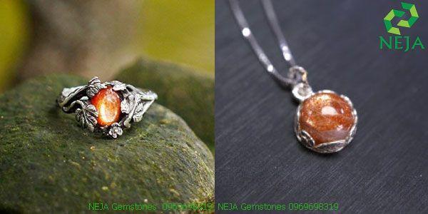 nhẫn đá, dây chuyền đá mặt trời