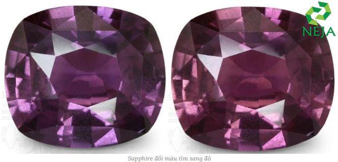 sapphire đổi màu