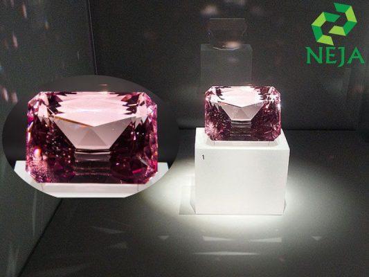 viên sapphire hồng được trưng bày tại bảo tàng hoàng gia Ontario