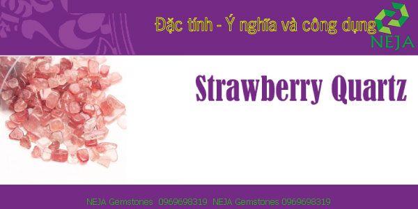 ý nghĩa thạch anh dâu strawberry quartz