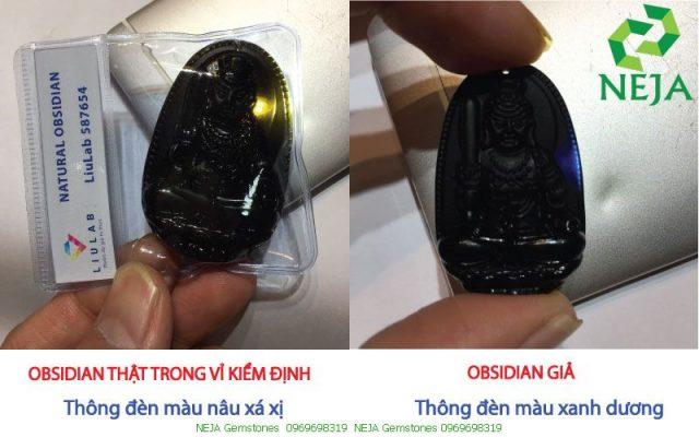 cách phân biệt đá obsidian thật giả