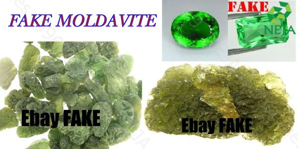 đá moldavite giả