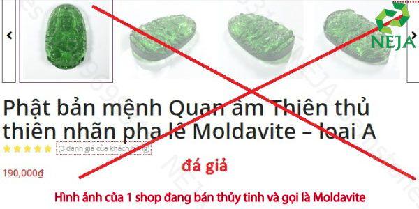 phân biệt đá moldavite thật giả