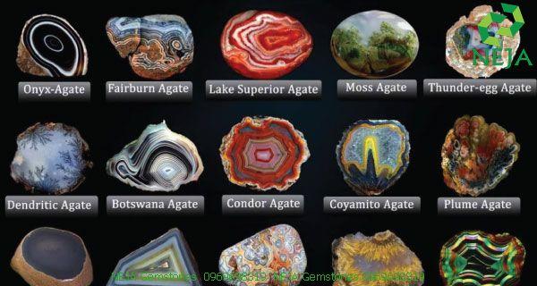 một số loại đá mã não phổ biến