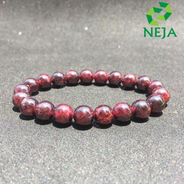 vòng tay ngọc hồng lựu tím đen