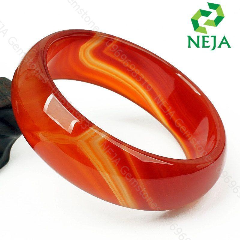 vòng mã não đỏ cam nguyên khối