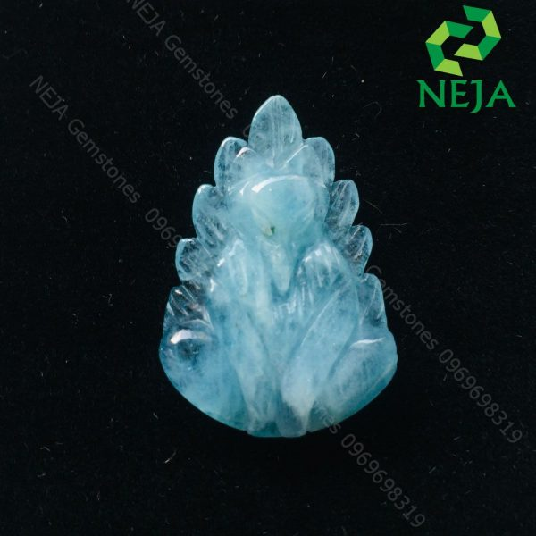 mặt dây chuyền nữ hoàng hò ly chúa đá aquamarine cao cấp