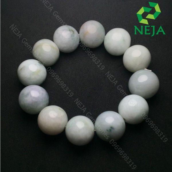 vòng tay đá cẩm thạch trắng xanh