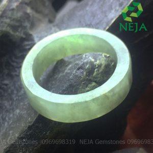 nhẫn cẩm thạch vuông