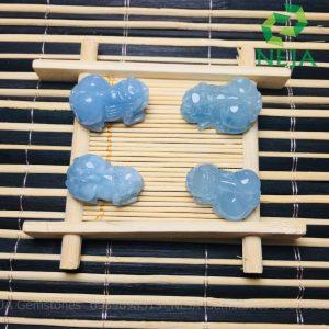 tỳ hưu đá aquamarine