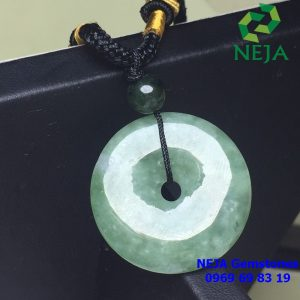 mặt dây chuyền đồng điếu ngọc cẩm thạch Jade xanh sẫm