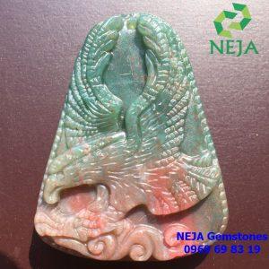 mặt dây chuyền đại bàng đá chalcedony