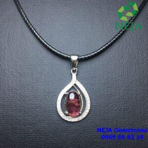 mặt dây chuyền bạc đá tourmaline