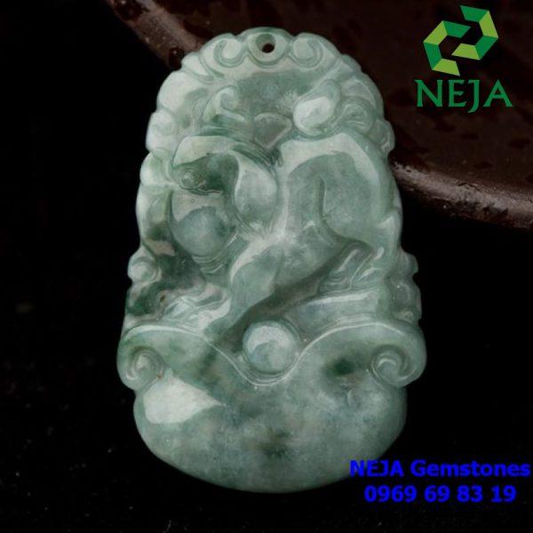 Ngọc bội 12 con giáp đá cẩm thạch tuổi hợi