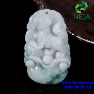 Ngọc bội 12 con giáp đá cẩm thạch tuổi tuất