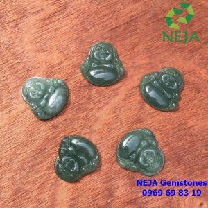 Phật di lặc ngọc cẩm thạch Jade xanh sẫm