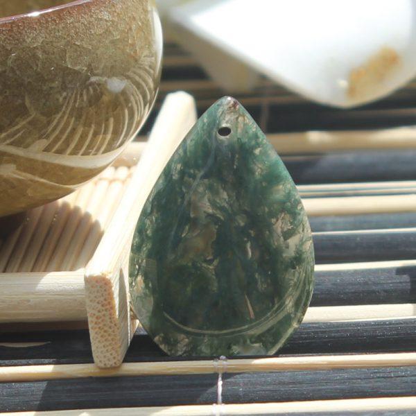 mặt dây chuyền băng ngọc thủy tảo hình giọt nước