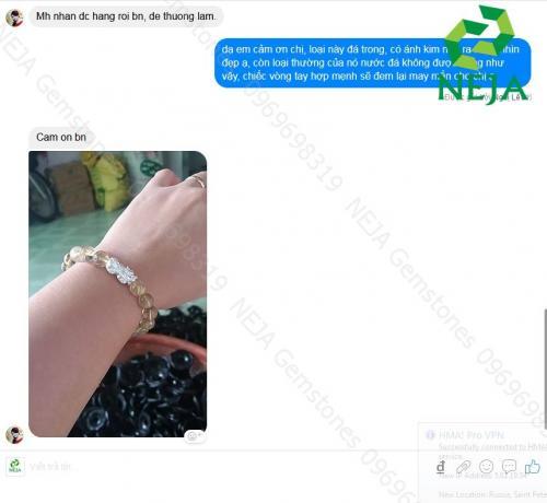 feedback khách hàng mua vòng tay đá quý phong thủy